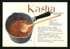 c. 1955 Cipe Pineles KASHA Recipe Christmas Greeting from Cipe Bill & Tom Golden
