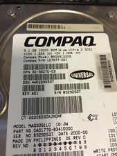 COMPAQ BD009122C6 9.1GB Wide Ultra2 SCSI HDD With Rails