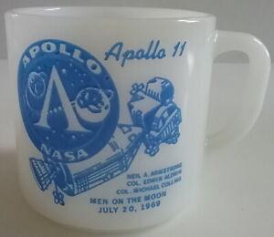 Apollo 11 NASA Man on the Moon Vintage Federal Glass Coffee Mug July 20, 1969