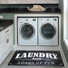 Laundry Room Runner Area Rug Floor Mat Carpet Waterproof Rubber Kitchen Doormat