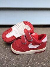 Vintage Original 1987 NIKE Basketball Delta Low SHOES Toddler Red White 2C OG