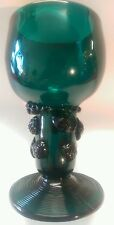 Antique Rhenish Green Wine Goblet With Hollow Stem. C. 1795