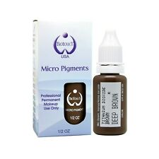 BioTouch Permanent Makeup Pigment Color DEEP BROWN Cosmetic Tattoo ink 0.5 oz
