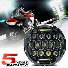 "7"" CREE LED Round Headlight Motorcycle Halo DRL LED Driving Light For Cafe Racer"