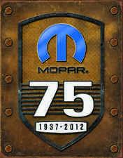 Mopar-75th Anniversary #1843 mancave garage automotive vintage metal sign