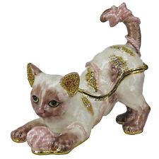 RUCINNI Cat Jeweled Trinket Box