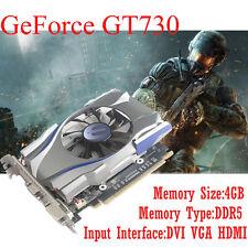 nVIDIA GeForce Graphics GT730 4GB Express Game Video Card GDDR5 128Bit PCI E