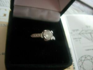 PLATINUM  Certified 0.91ct  Diamond Ring, Appraisal, $4600 INSCRIBED Size 7