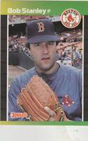 FREE SHIPPING-MINT-1989 Donruss #421 BOB STANLEY BOSTON RED SOX Baseball Card