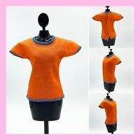 "NEW  BRIGHT ORANGE /"" FEELIN BRIGHT/""  T-SHIRT for  Barbie doll"
