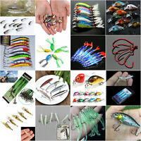 Lots Fishing Lures For Minnow Fish Bass Tackle Hook Baits Crankbaits Tackle Tool