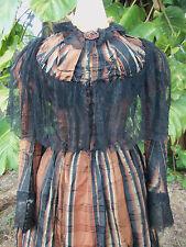 ANTIQUE HIGH VICTORIAN BUSTLE DRESS c.1890 JACK THE RIPPER ERA!