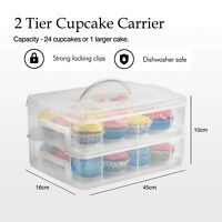 Cake Cupcake Baked Goods Holder Storage Carrier Container For 24 Cupcakes WN