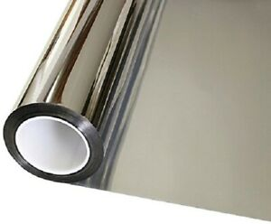 "12""x 24"" Window Tint One Way Mirror Film UV Heat Reflective Home Heat Insulation"