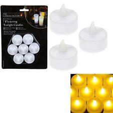 7 x Tè Leggero Senza Fiamma Tremolante LED Batteria Candele Natale Matrimonio Casa