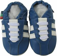 shoeszoo sneaker blue 0-6m S new soft sole leather baby shoes