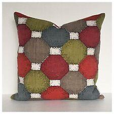 Vintage 1950s Barkcloth Fabric Cushion Cover Mid Century Eames