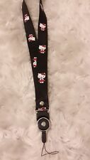 Cute Black Hello Kitty Detachable Ring cell phone lanyard Strap/ID Holder Strap
