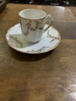 Bavarian China Germany Tea Cup And Saucer