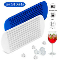 Ice Cube Maker Molds 160 Grids Mini Small Trays Silicone Bar Whiskey Cocktails