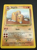 Dugtrio RARE 19/102 Base Set Unlimited Pokemon 1999 WOTC NM