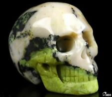 "2.0"" HISO JASPER Carved Crystal Skull, Realistic, Crystal Healing"