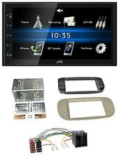 JVC 2din Bluetooth mp3 aux USB autoradio para Fiat 500/500c-beige