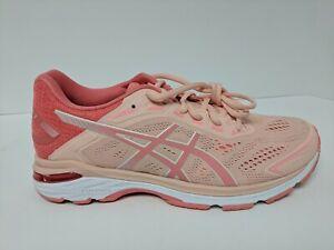Asics GT-2000 7 Running Shoe, Baked Pink/Papaya, Women's 9.5