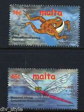 Frog & Dragonfly Europa set of 2 stamps mnh 2001 Malta #1053-4