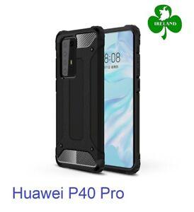 For Huawei P40 Pro Case Black Luxury Armor Shockproof Hybrid Design Case New