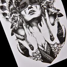 1x Waterproof Ancient Women Temporary Tattoo Large Arm Body Art Tattoos Sticker