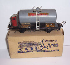 "Stadtilm Tank Wagon Leunawerk "" Leuna "" Gauge S with Original Box Rare"