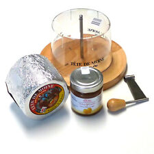 Set Cheese Slicer Tete de Moine Aop Whole Block with Quince Mustard Hood Girolle