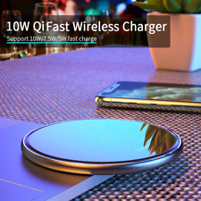 10W Qi Wireless Charger Induction Fast Charging Pad Samsung iPhone Xiaomi Huawei