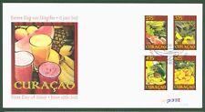 Curaçao 2012 - Fruits Melon Ananas Mango Banane Fruits - No. 97-100 FDC