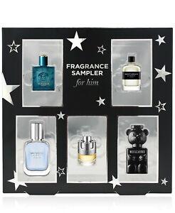 Macy's Designer Perfume Fragrance Sampler For Him Set, 5-PC Set New