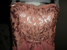 Women's Jus d'Orange Peach Chiffon Formal/Cocktail Long Dress Beautiful NWT