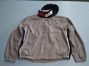 Tommy Hilfiger Mens Size M Golf Beige Cream Pullover Long Sleeve Jacket. S1