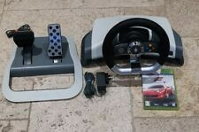 OFFICIAL MICROSOFT XBOX 360 FORCE FEEDBACK STEERING WHEEL AND PEDALS + PSU