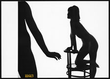 Larger Size Vintage fine art Photograph, nude girl on chair, by Zdenka Virta