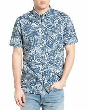 Levi's Mens Sunset Print Woven Button Down Shirt Small Blue