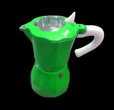 Caffettiera Moka Macchinetta Caffè Espresso Napoletano Mis. 1 Tazza Verde dfh