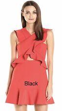 "BCBG MaxAzria Womens ""Careen"" BLACK Keyhole Cocktail Dress 12 NWT retail $268"