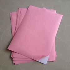 10 Sheets Light Pink A4 Matte Self Adhesive Blank Label Sticker Printer Paper
