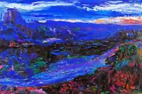 Original OIL Painting Arthur Robins NYC Art DEEP IN THE CANYON Grand Canyon mnts