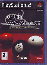 CUE ACADEMY Snooker Pool Billiards (2006) PS2 PAL ITA NUOVO RISIGILLATO*