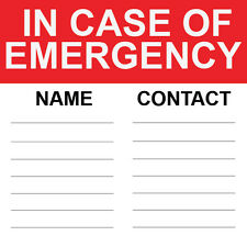 "In Case Of Emergency Sign 8"" x  8"""