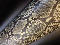 17,24€/m² Premium 3D Snake Schlangen Leder Auto Folie Luftkanäle Wrap Lackschutz