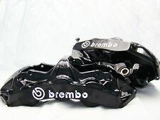 4x 105MM BREMBO WHITE BRAKE CALIPER DECALS STICKERS HIGH TEMP