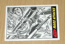 2012 Topps Heritage MARS ATTACKS sketch card Brett Farr 1/1